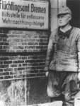 Das Flüchtlingsamt in Bremen befand sich in der Nähe des Hauptbahnhofs. Die Aufnahme stammt aus dem Jahr 1945.