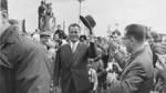 Auch SPD-Kanzlerkandidat Willy Brandt stattet 1961 Bremen auf seiner Wahlkampfreise einen Besuch ab.