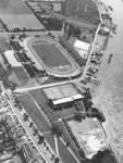 Und aus dem selben Jahr das Weserstadion aus der Vogelperspektive.