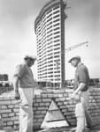 Moderne Architektur für fortschrittlichen Städtebau: Das Aalto-Hochhaus kurz vor der Fertigstellung 1962. Auf jedem der 22 Stockwerke sind neun Wohnungen entstanden.