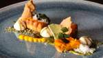 Kürbis-Ingwer-Tarte mit Baiser und Zitrus-Espuma