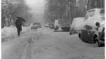 Die Schneeverwehungen ließen den Straßenverkehr weitgehend zum Erliegen kommen.