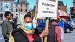 Demonstration für die Schließung der Landeserstaufnahmestelle für Flüchtlinge -