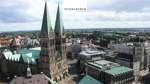 Christian Walter hat für diese Aufnahme unsere Drohne in der Bremer Innenstadt aufsteigen lassen.