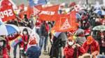 Hunderte demonstrieren zum 1. Mai in Bremen