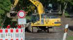 Straße wegen Kanalarbeiten gesperrt