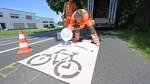 Radfahrer gehören auf die Straße
