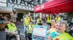 Verdi-Warnstreik bei Marktkauf am Pumpelberg