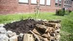 Ein Schutzzaun für den Schulgarten