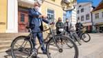 PK zum Stadtradeln vor dem Rathaus in Verden