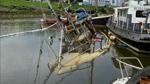 Schiff im Hohentorshafen gesunken