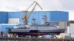 Kiellegung der vierten Korvette für die Deutsche Marine