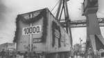 Dezember Neustädter Hafen/erster Jubiläumscontainer/Transport  per LKW/1967