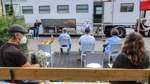 Impfmobil macht in Bremer Überseestadt Station