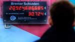 Knapp 58.000 Euro öffentliche Schulden pro Bremer