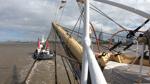 """Der Umzug der """"Schulschiff Deutschland"""" von Vegesack nach Bremerhaven"""