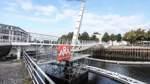 Hafenbrücke mit Mängeln