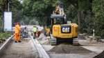 Straßenbauarbeiten wieder in der Spur