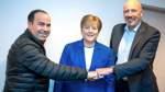 Merkel-Wachsfigur zieht in Bremer CDU-Zentrale ein